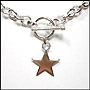 "Star Charm Toggle Sterling Silver Link Necklace (Regular 16"")"