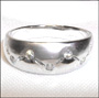 Polished and Matte Sterling Silver Band  (7 mm) Ring
