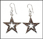 Marcasite Star Silver Hook Earrings