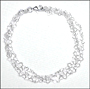 "Multi-Strand Micro Heart Link Silver Anklet (9.5"")"