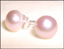 Rose Freshwater Pearl Stud Earrings (8 mm)