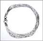 Multi-Chain Platinum Finish Silver Bracelet