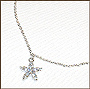 Hanging Star Charm Silver Anklet II