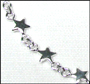 Tiny Star Charm Link Silver Anklet