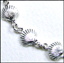 SeaShell Charm Link Silver Anklet