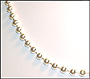 Bead Chain Sterling Silver Anklet