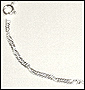 Singapore Style Silver Anklet