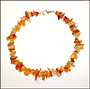 Carnelian Chips Anklet in Silver