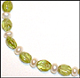 Freshwater Pearl and Peridot Anklet