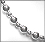Sterling Silver Bead Garland Style Necklace 18""