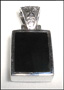 Black Onyx Pendant in  Silver