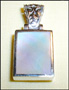 Mother of Pearl Pendant in  Silver