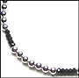 Sterling Silver Bead (8 mm) and Black Onyx Necklace 16""