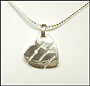 Heart Silver Necklace with Three Diamonds