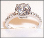 Round CZ Solitaire Ring in Silver Size 9