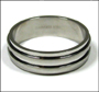 Men's Two-Band Stainless Steel Spin Ring Plus Size 13, 14, 15