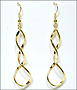 Twisted Elongated Loop Gold Tone Earrings