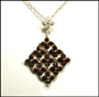 Black and White Diamond Shaped CZ Necklace