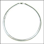 Italian Omega Sterling Silver Necklace (6mm) 18""