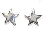 Polished Star Stud Silver Earrings