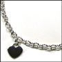 Heart Charm Silver Link Necklace with Lobster Clasp (Regular)