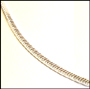 Sterling Silver Snake Chain 18""