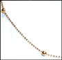 Diamond Cut Silver Chain with Ball Beads 16""