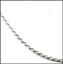 Sterling Silver Rope Chain 16""