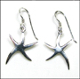 Starfish Dangle Sterling Silver Earrings