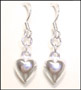 Silver Heart Shaped Hook Earrings