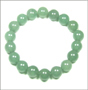 Green Jade Bead Bracelet (10mm)