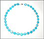 Oval Bead Turquoise Necklace