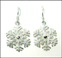 Snow Flake Silver Earrings