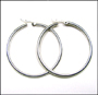 Sterling Silver 50 mm Hoop Earrings (3mm)