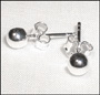 Polished Sterling Silver Ball Bead Stud Earrings (4mm)