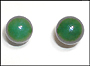 Green Jade Stud Earrings (10 mm) in Silver