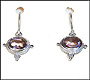 Sterling Silver Earring with Oval Amethyst