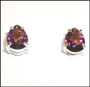 Water Drop Violet Crystal Stud Silver Earring