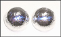 Engraved Silver Ball Clip-On Earrings