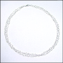 Multi-Strand Micro Heart Link Silver Necklace