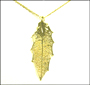 Gold Oak Leaf Necklace