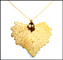 Gold Cottonwood Leaf Necklace