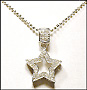 Open Star Sterling Silver Necklace
