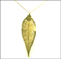 Gold Evergreen Leaf Necklace