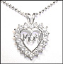 """""""Mom"""" Open Heart Silver Necklace"""