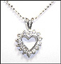 "Open Heart Sterling Silver Necklace 16"" or 18"""