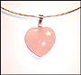 Heart Shaped Rose Quartz Omega Necklace