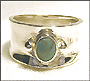 Turquoise Wide Band Silver Ring 5, 6, 7