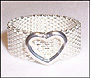 Silver Mesh Ring with Open Heart