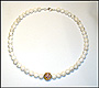 Howlite Bead Necklace 17""